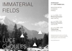 LUCE CHOULES workshop 2019 Chamonix