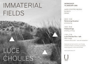 LUCE CHOULES workshop 2020 Blanca